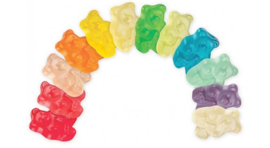 12 flavours gummy bears